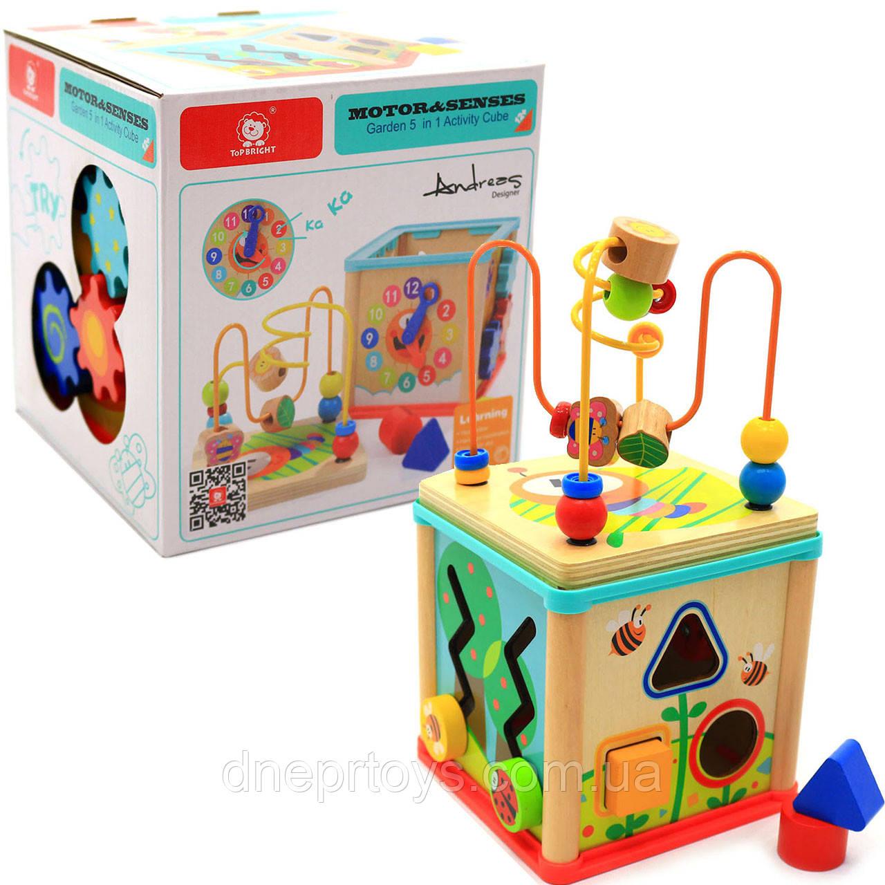 """Дерев'яна іграшка Top Bright сортер бізі-куб """"Великий лабіринт», 1+ (120315)"""