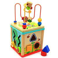 """Дерев'яна іграшка Top Bright сортер бізі-куб """"Великий лабіринт», 1+ (120315), фото 4"""