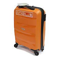 Пластиковый большой чемодан на 4-х колесиках 95 л Airtex Newline оранжевый, фото 1
