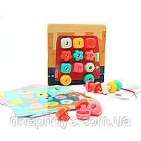 Розвиваюча іграшка Top Bright Складна мозаїка і шнурівка (120450), фото 4