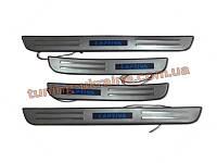 Накладки на пороги с подсветкой для Chevrolet Captiva 2006-11