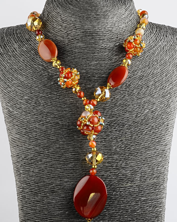 Ожерелье сердолик