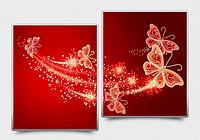Схема на ткани для вышивания бисером Ажурные бабочки (красный) АР3-014