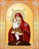 Схема на ткани для вышивания бисером Почаевская икона Божией Матери  AС3-021