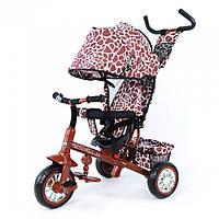 Трехколесный велосипед с ручкой | TILLY ZOO-TRIKE коричневый