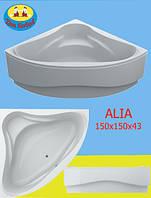 Ванна Акриловая Угловая Swan Alia 150х150х43