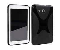 "Чехол-бампер для планшета Samsung Tab3 Lite 7"" TPU Xline Black (T110/T111/T113/T116), фото 1"