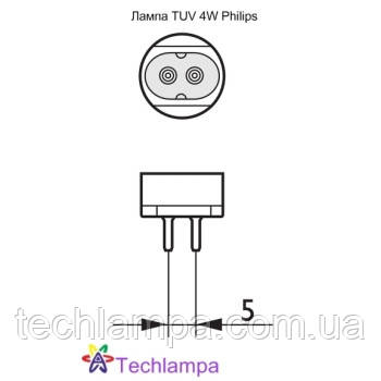 Лампа бактерицидная TUV 4W Philips