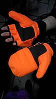 Флисовые перчатки - варежки Thinsulate., фото 1
