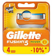 Змінні касети для гоління 4 шт Fusion Power (Original) - Gillette, фото 1