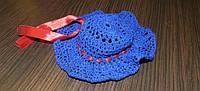 Шляпка вязанная крючком синяя