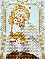 Схема на ткани для вышивания бисером. Почаевская икона Божией Матери AC5-123