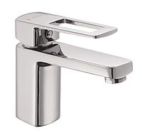 Смеситель на раковину в ванную Haiba ENIO 001 однорычажный латунный литой кран для умывальника на шпильке