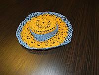 Шляпка вязанная крючком Украина, фото 1