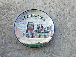 Ляган Узбекистан, Риштанская глина, ручна робота, 32см.