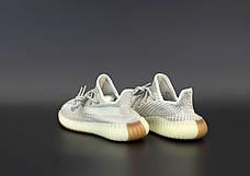 Рефлектив   Жіночі кросівки в стилі Adidas Yeezy Boost 350 v2 Beige Reflective, фото 3