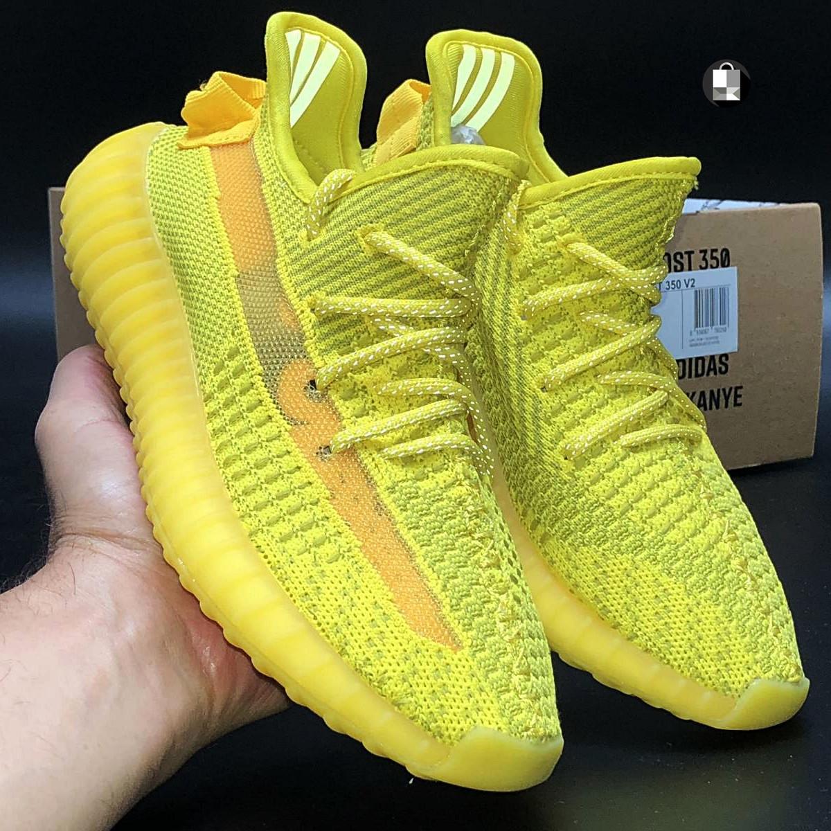 Рефлектив | Чоловічі кросівки в стилі Adidas Yeezy Boost 350 v2 Yellow Reflective