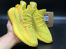 Рефлектив | Чоловічі кросівки в стилі Adidas Yeezy Boost 350 v2 Yellow Reflective, фото 3