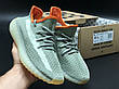 Женские кроссовки в стиле Adidas Yeezy Boost 350 v2 Grey Orange, фото 4