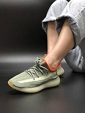 Женские кроссовки в стиле Adidas Yeezy Boost 350 v2 Grey Orange, фото 3