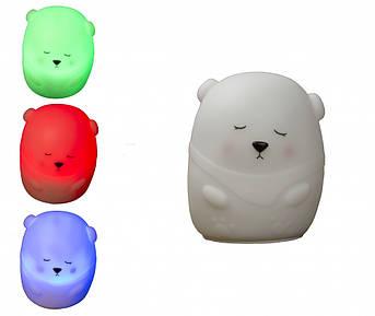 Силіконовий LED нічник Ведмідь MTY-214