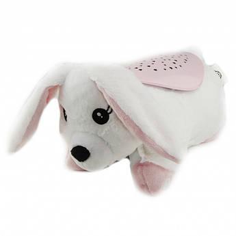 Нічник - проектор плюшевий музичний з підсвічуванням Білий кролик HB 0009