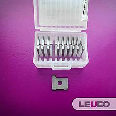 Радіусні змінні пластини Leuco з 1 ріжучим радіусом