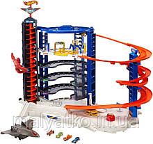 Трек Hot Wheels Гараж-гігант Супермагистральный гараж Super Ultimate Garage Playset