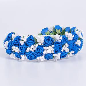 Український віночок-обруч для волосся Moderika Синя Ніжність