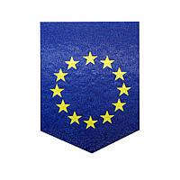 Магніт вимпел, магнит прапор Євросоюз, патріотична символіка, магніт український, магніти оптом