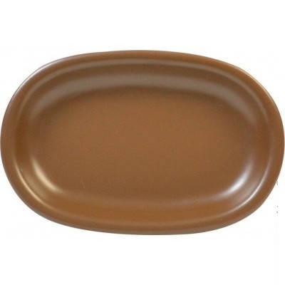 Блюдо сервировочное керамическое 22*15 см  Keramia 24-237-046 овальное Табако, фото 2