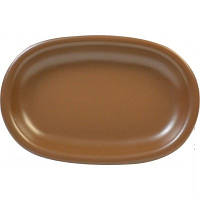 Блюдо сервировочное керамическое 25*18 см  Keramia 24-237-047 овальное Табако