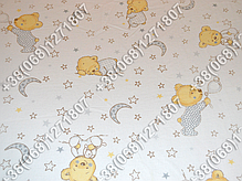 Детское постельное белье и защита (бортик) в детскую кроватку (мишка на месяце белый), фото 3