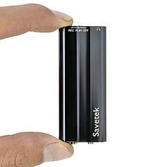 Мини диктофон цифровой Savetek 600 8 Гб + VOX с активацией голосом Черный 01827 ZZ, КОД: 103164