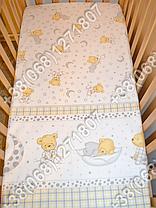 """Детское постельное белье в кроватку """"Бим Бом"""" комплект 7 ед. (мишка на месяце белый), фото 3"""