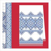 Схема на бумаге для вышивания рушника Р2-003
