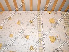 """Детское постельное белье в кроватку """"Бим Бом"""" комплект 6 ед. (мишка на месяце белый), фото 3"""