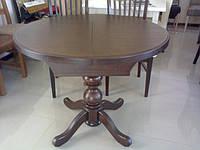 Стол кухонный деревянный круглый раздвижной  «К 3»  диаметр 940 (1290)
