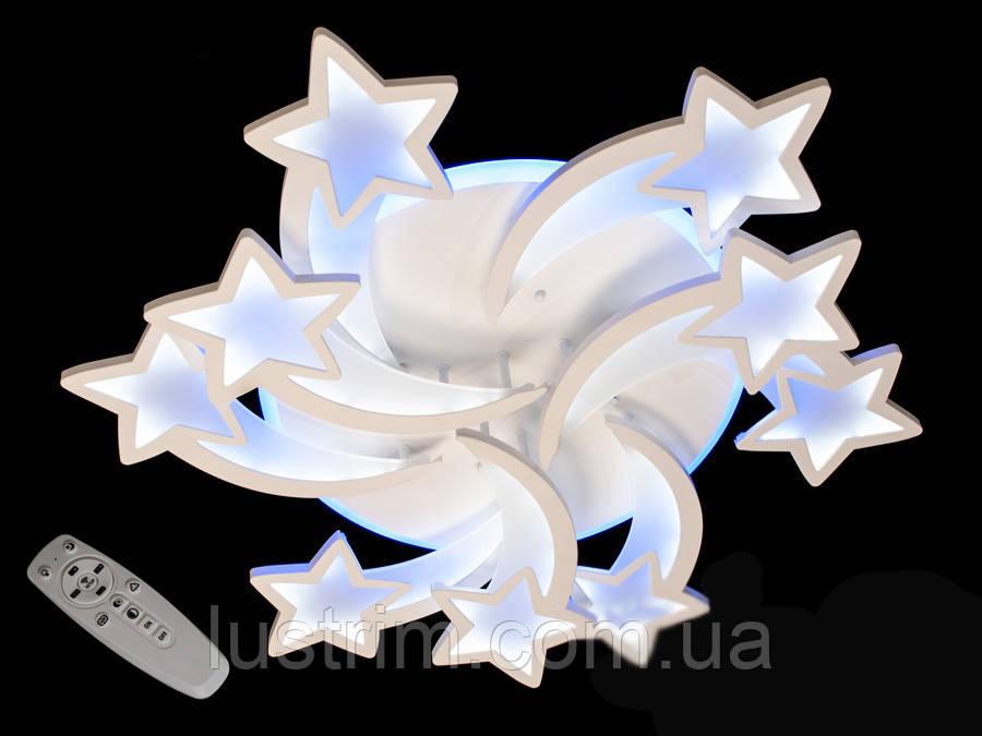 Светодиодная LED люстра с диммером и RGB подсветкой, 170W