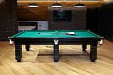 "Бильярдный стол для пула ""DALLAS"", 8 футов, 220х110 см, Ардезия, TT BILLIARD, гарантия 2 года, фото 3"
