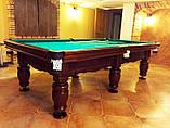 "Бильярдный стол для пула ""ФЕРЗЬ"", 8 футов, 220х110 см, Ардезия, TT BILLIARD, гарантия 2 года, фото 2"
