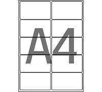 Этикетка A4 - 2штуки на листе (105x297)