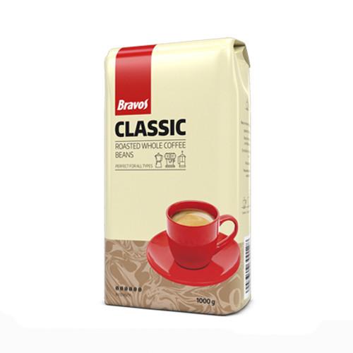 Кофе в молотый темная обжарка Bravos Classic, 1кг, робуста, Венгрия