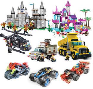 Конструктори типу лего, брик та інші. Дитячі конструктори, розвиваючі. Конструктори тематичні.