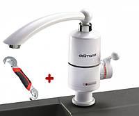 Проточный водонагреватель кран электрический бойлер Делимано 3000 Вт Delimano белый