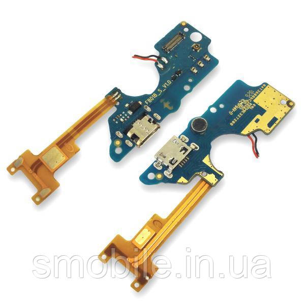 Роз'єм зарядки Tecno Pop 2F на платі з мікрофоном і компонентами (копія AA)