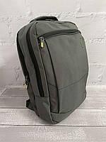 Міський стильний сірий рюкзак Wenhao 1097 з USB зарядкою для телефону та відділення під ноутбук, фото 2