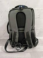 Міський стильний сірий рюкзак Wenhao 1097 з USB зарядкою для телефону та відділення під ноутбук, фото 4