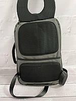Міський стильний сірий рюкзак Wenhao 1097 з USB зарядкою для телефону та відділення під ноутбук, фото 7