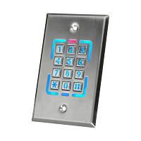 Врезная металлическая кодовая клавиатура  доступа ST-226 со встроеным считавателем карт